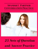 Spanish Partner Conversation Practice 25 Sets of Question