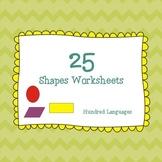 25 Shapes Worksheets