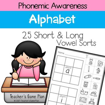 Phonemic Awareness - 25 Short and Long Vowel Sound Picture Sorts
