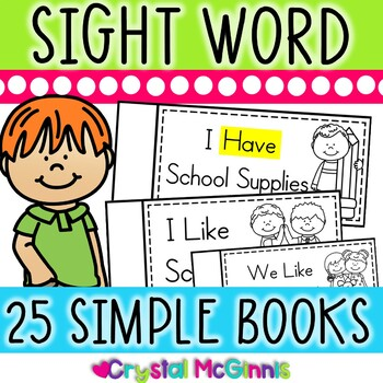 25 Sight Word Books for Beginning Guided Reading or Whole