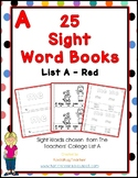 25 Sight Word Emergent Readers - List A - Red