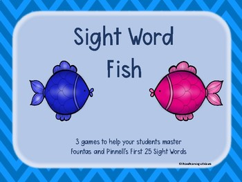 25 Sight Word Fish {Fountas & Pinnell}