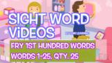 Fry 1st 100, Sight Word Videos #1-25: Teach Spelling, Mean