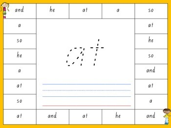 25 Sight Word write and read boards (Fontas and Pinnel aligned)