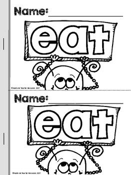 25 Silly Sight Word Readers Volume 2 for Kindergarten {Slice & Staple Easy Prep}
