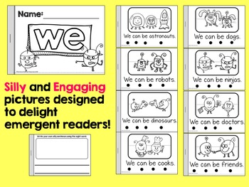 25 Silly Sight Word Readers for Kindergarten {Printable Slice & Staple}
