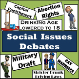 Debates - 35 Social Issues - Reading, Writing, & Speaking in Social Studies