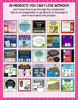 25 Speech & Language Products You Can't Live Without: Apraxia & Phonology
