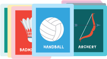 25 Sports Flash cards Worksheet,PowerPoint & Original png files, Video and music