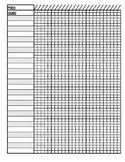 25 Student 25 Day Gradebook Sheet
