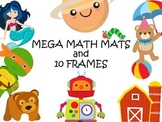 25 Themed Math Mats Bundle - Counting and 10 Frames 189 Pages
