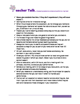 25 Things You Should Do Before Each Teacher Evaluation
