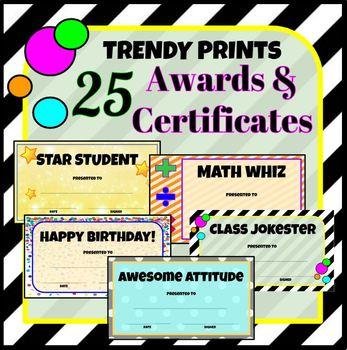 25 Trendy Printable Awards & Certificates