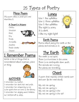 25 Types of Poems