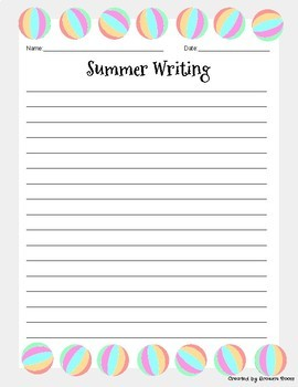 25 Unique Summer Themed Writing Prompts