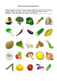 25 Vegetables - A worksheet
