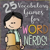 25 Vocabulary Games for Word Nerds