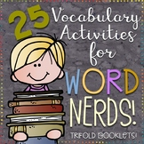25 Vocabulary Trifold Activities for Any Word List