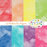 25 Watercolor Papers