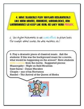 25 Ways a Classroom Teacher Can Integrate Music