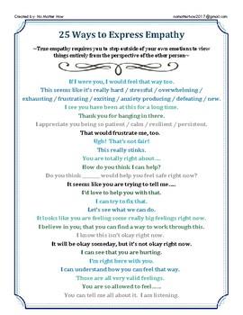 25 Ways to Express Empathy