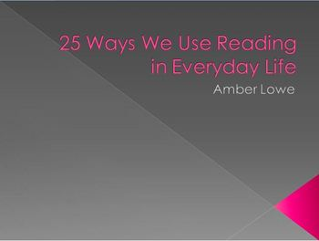 25 Ways we use reading everyday!