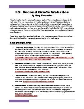 25+ Websites: Second Grade