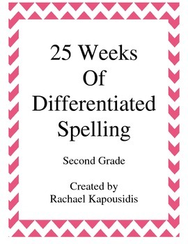 25 Weeks of Differentiated Spelling