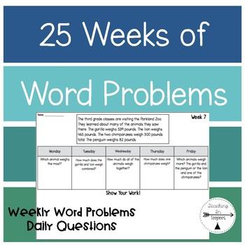 25 Weeks of Word Problems