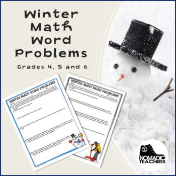 25 Winter Math Word Problems