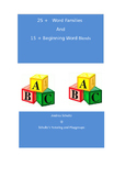 Phonics----25+ Word Family  & 15 + Initial Word Blend Lists