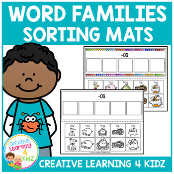 Word Family Sorting Mats 25 Word Families