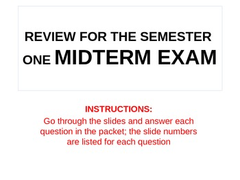 UNIT 4 LESSON 5. World History Fall Semester Midterm Exam Review POWERPOINT