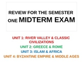 WORLD UNIT 4 LESSON 5 World History Fall Semester Midterm Exam Review POWERPOINT