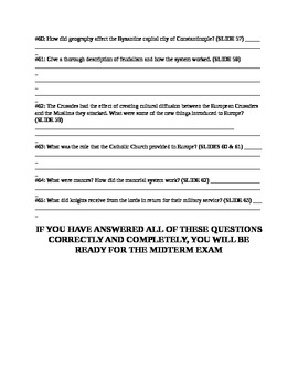 UNIT 4 LESSON 5. World History Fall Semester Midterm Exam Review QUESTION PACKET