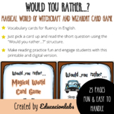 25 Would You Rather Questions Cards in English