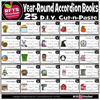 25 'Year Round' Accordion Books - Bundle