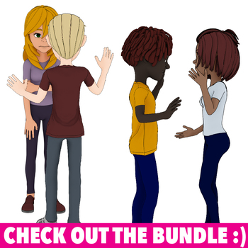 25 Youth Tween Teen Actions Clip Art  Commercial Use OK - Secondary Clipart