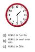 25- leken Klokka: hel, halv, kvart på/over