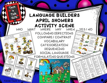 Language Builders April Showers Activity Scene