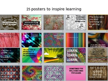 25 posters to inspire learning