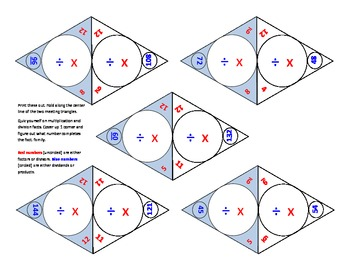 25 self-checking math operations flashcards multiplication & division 150 facts
