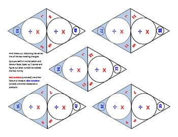 25 self-checking math operations flashcards multiplication