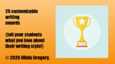25 unique writing awards {for digital or hard copy use--fu