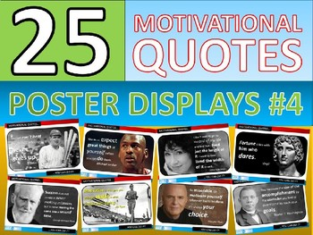 25 x Motivational Famous Quotes #4 Posters for Classroom Display or Handouts