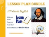 10th Grade English Annual Lesson Plan Bundle (Entire Year