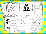 250 Alphabet and Numbers Worksheets Download. Preschool-Kindergarten. Worksheets