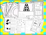 250 Alphabet and Numbers Worksheets Download. Preschool-Kindergarten. Worksheets