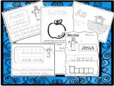 250 Bible Learning Worksheets Download. Preschool-Kindergarten Bible Worksheets.