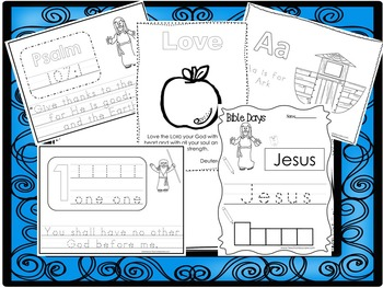 250 Bible Learning Worksheets Download  Preschool-Kindergarten Bible  Worksheets